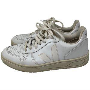 Veja Women's V 10 Leather Sneakers White Nautico